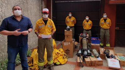 CEPAD realiza entrega de equipo especializado al grupo de Bomberos Voluntarios El Quebracho